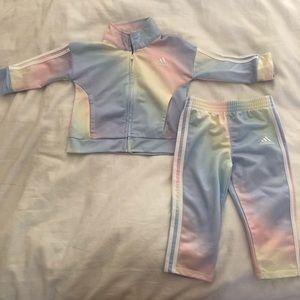 Baby Girl ADIDAS 12MO  tracksuit jacket pants set